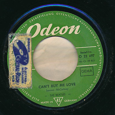 """The Beatles 45 Tours 7"""" Germany Can't Buy Me Love"""