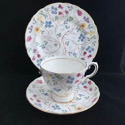 TUSCAN INDIAN GARDEN TRIO cup saucer and plate VINTAGE