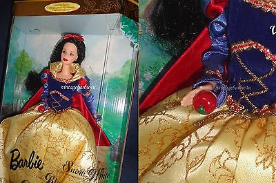 Mattel Barbie Doll as Snow White w/ Red Apple NEW Mint in Box