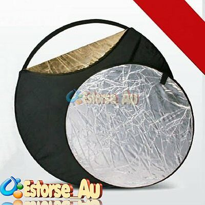 60/80/110cm Gold Silver 5 in1 Studio Light Mulit Collapsible Disc Reflector