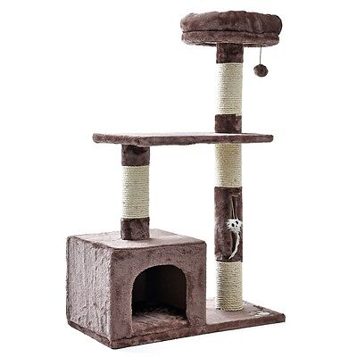 Pet  Cat Tree Tower Condo Scratching Furniture Kitten Cat Play House Funny Toys