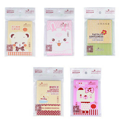 1 Pack Powerful Makeup Facial Oil Control Tissue Oil Absorbing Blotting Paper LD