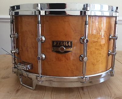 Vintage Tama Birds Eye Maple 14 x 8 snare from 1980's with 3 way tuning lugs.