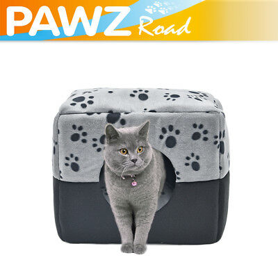 3 Ways Use Pet Dog Cat House Bed Winter Warm Soft Kennel Cave Sofa House Beds