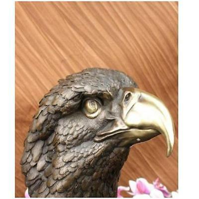 HandcraftedBronze Home Wildlife American Eagle Bust Marble Extra Large  E