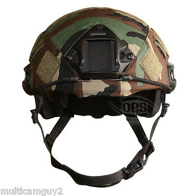 Ops/ur-Tactical Helmet Cover For Ops-Core Fast Helmet In M81 Woodland Camo-M/l