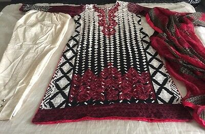 Pakistani Embrioded LAWN Suit COLLECTION STITCHED SHALWAR KAMEEZ SUIT Medium