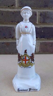 ARCADIAN Crested China WW1 Soldier's Friend Nurse - London