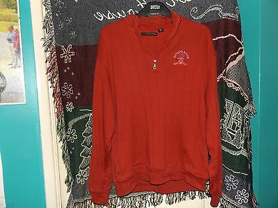 Hunstanton Golf Club Zip Sweater - Greg Norman - Size M - Used - Red