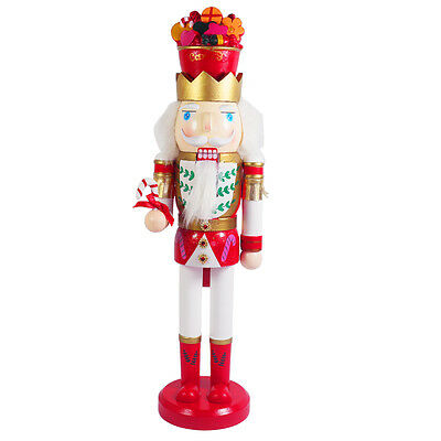 """Christmas Decoration 15"""" Wooden Soldier Nutcracker Statue Figurine with Candy"""