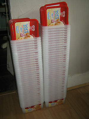 20 x used plastic ice cream tubs with lids packaging/storage/freezer etc.