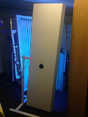 8t white metal canopy sunbed 100watt tel 01740655557 for del £ most uk