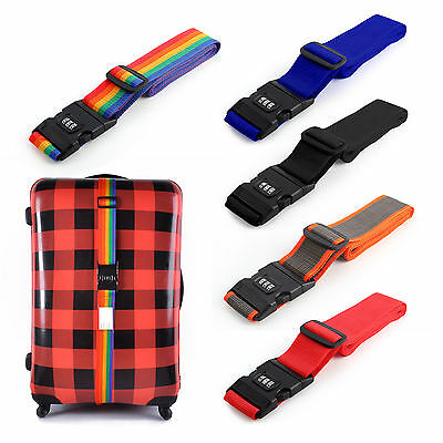 Luggage Suitcase Lock Belt Strap Travel Baggage Tie Adjustable Combination Down