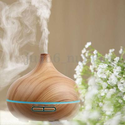 LED Ultrasonic Diffuser Essential Oil Aromatherapy Air Humidifier Home Purifier