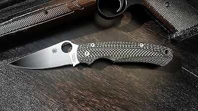 Spyderco  Paramilitary 2, Custome scales, Model - Grand -CF (Knife not included)