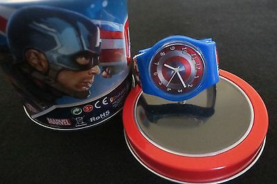 Marvel's Captain America and Iron Man; Boys watch with Gift Tin