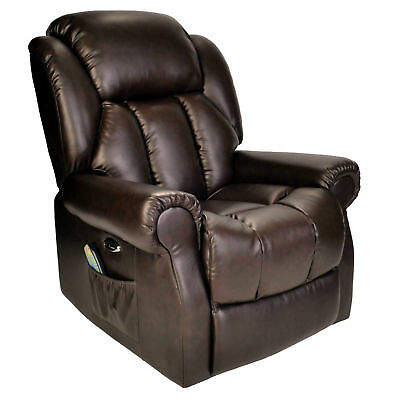 Hainworth Leather Electric recliner chair with heat and massage