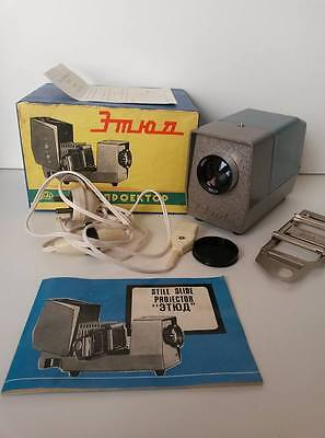 Fed Etude - Beautiful USSR Slide Projector - Boxed / Complete / VGC Vintage