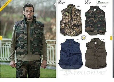 Gilet Inbottito Forest Caccia Pesca Sport Follow Me  New Model