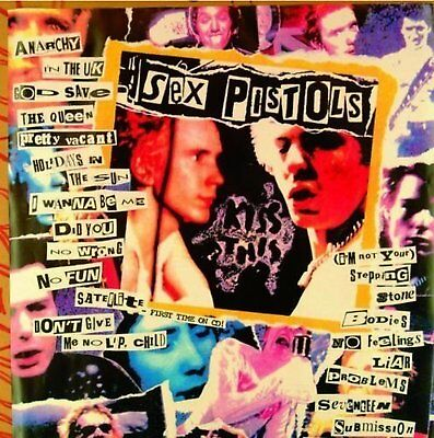 Sex Pistols Colour Newspaper Greeting Birthday Card Any Occasion Album Official