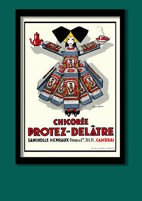 Art Deco Poster. Vintage French Coffee Advertising , A2 ( 40 X 60 CM ) Print