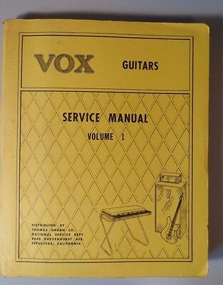 Original Vox Guitars Service Manual Volume 1