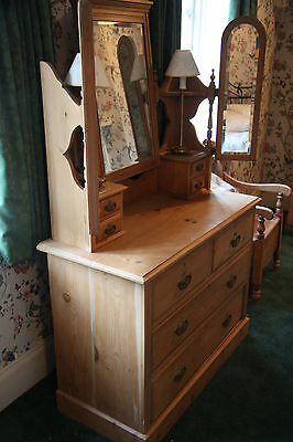 Antique satin walnut dressing table house clearance