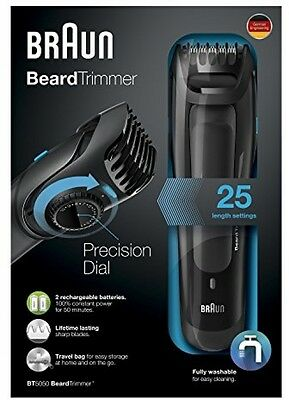 Braun BT5050 Beard Trimmer For Men Cordless And Rechargeable Electric Hair