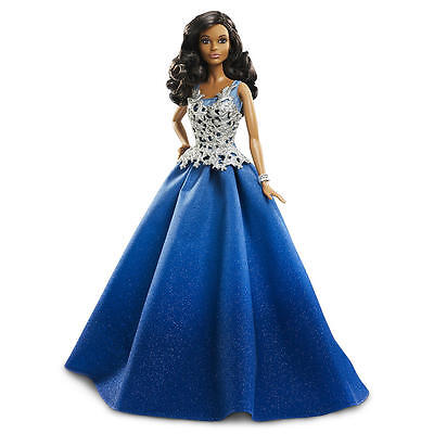 Mattel Barbie Collector Doll - 2016 Collector Holiday - Brown Hair, Blue Dress