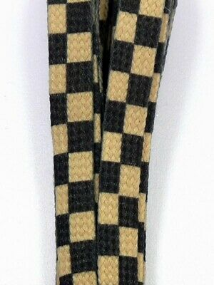 Schnürsenkel 120 checker beige black