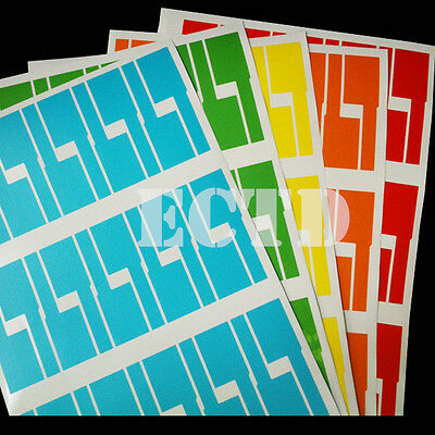 300 x Cable labels,network cable electric cable markers tear proof mixed colour
