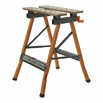 Craftright FOLDING WORK BENCH Hardy Steel Construction, Compact & Portable
