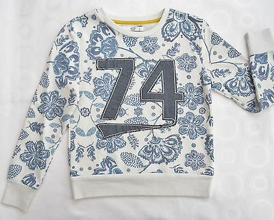 "Girls ex M&5 Sweatshirt Floral Print ""74""  Kids Casual Wear Top 5-6 to 9-10 yrs"