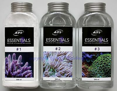 ATI Essentials Set 3 x 500ml Mineralien Spurenelemente Meerwasser 11,67€/L • EUR 17,50