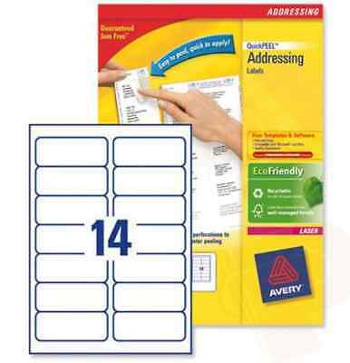 Brand New Sealed Pack Of Avery Quickpeel Laser Address Labels (1400 per pack)