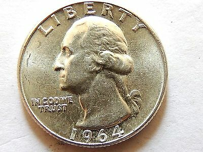 1964 Washington Silver Quarter,,