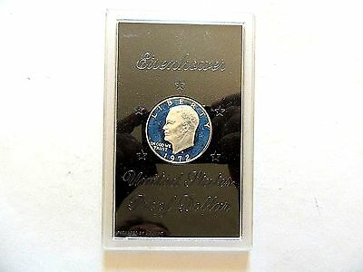 1972-S United States Eisenhower Silver Proof Dollar In Lucite Case