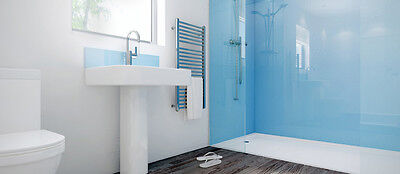 8' x 4' x 2.5mm thick PVC kitchen and bathroom splash backs in pastel blue