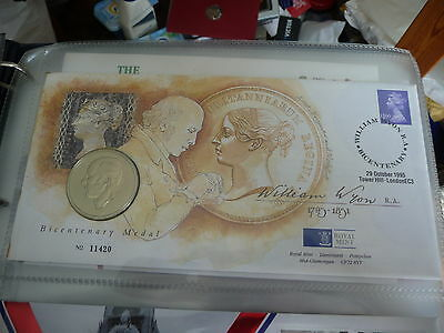 G.b. - 1995 William Wyon Royal Mint Pnc Medallion First Day Cover