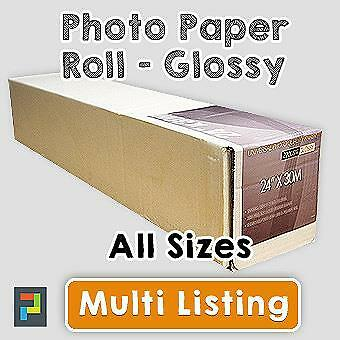 Inkjet Photo Paper Rolls,Glossy Photographic Paper Roll 220gsm & 30m - All Sizes