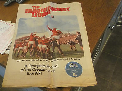 The Magnificent Lions 1971 - A Complete Record Of The Greatest British Lions