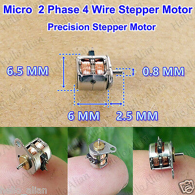 Micro 2-Phase 4-Wire Stepper Motor 6.5*6MM Micro Mini Stepper Motor with Rod DIY
