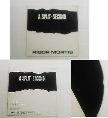 "A Split - Second ‎– Rigor Mortis  SPAIN 1987 EDITION 12""  Techno New Beat"