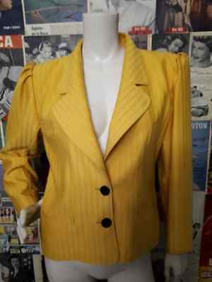 giacca veste jacket chaqueta UNGARO MADE IN ITALY TG 44  vintage anni 70 donna