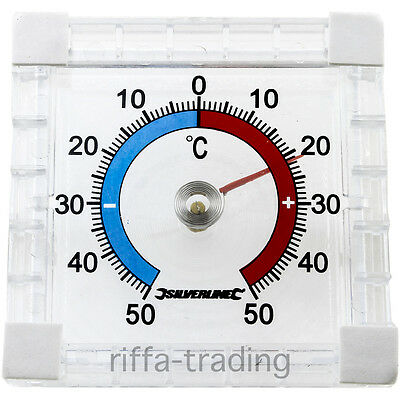 Stick On Thermometer, Indoor Outdoor, Celsius, Window Glass Home Room Greenhouse