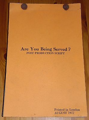 """John Inman """"Are You Being Served?"""" Original Post Production Movie Script 1977"""