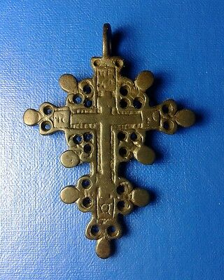 Ancient Bronze Cross 15-18th century. Big !!! Very Rare !!!