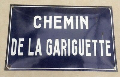 Vintage French Street Sign Traditional Convex with Vitreous Enamel