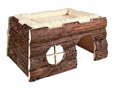 Trixie 6208 Natural Living Tilde Log House with Cuddly Bed 39   20   29 cm