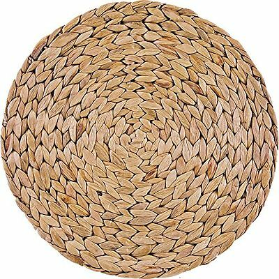 Creative Tops Natural Water Hyacinth Weave Placemats Tablemats, Set of 4